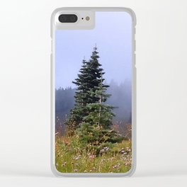 High Upon A Mountain Clear iPhone Case