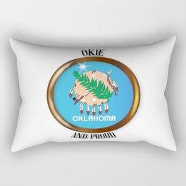 Oklahoma Proud Flag Button Rectangular Pillow
