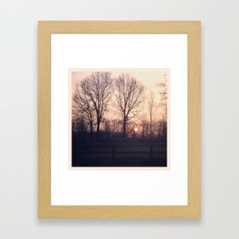 love early...and keep it going Framed Art Print