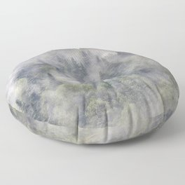Pinsapos. Into The Woods foggy. Square Floor Pillow