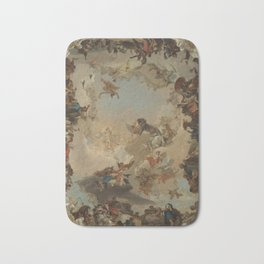 Allegory of the Planets and the Continents by Giovanni Battista Tiepolo Bath Mat