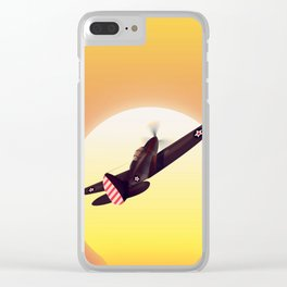 Vintage fighter plane Clear iPhone Case