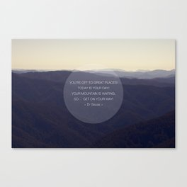 You're off to great places ... Canvas Print