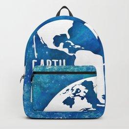 Earth Matters - 01 Blue Watercolors Backpack