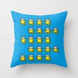 Catroid Pattern Throw Pillow