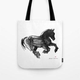 Horse (Devil cantering) Tote Bag