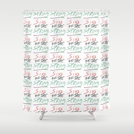 sins of the spring – romance,romantic,love,beauty,heart,girly,wild Shower Curtain
