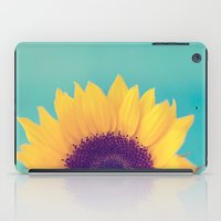 sunflower iPad Cases featuring Sunflower by Debbie Wibowo