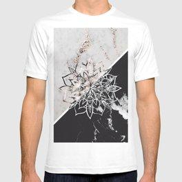 Yin Yang Mandala on Marble #1 #decor #art #society6 T-shirt