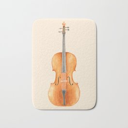 Cello - Watercolors Bath Mat