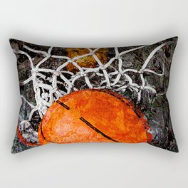 Basketball art hoop and net Rectangular Pillow