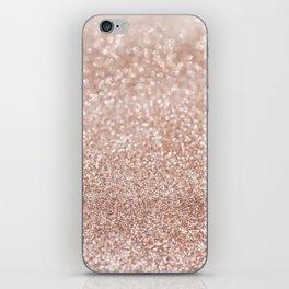 Sparkling Rose Gold Blush Glitter #2 #shiny #decor #art #society6 iPhone Skin
