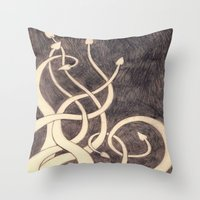 kraken Throw Pillows featuring Kraken by cepheart