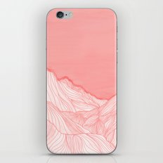 Lines in the mountains - pink iPhone & iPod Skin