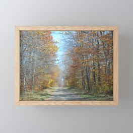 Fall Drive Framed Mini Art Print