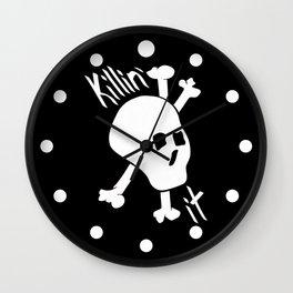 Killin' it Skull And Crossbones Wall Clock