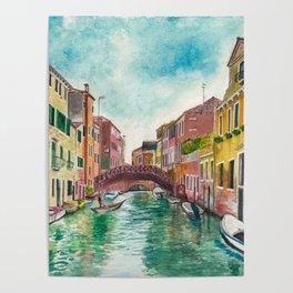 Venezia Watercolor Poster
