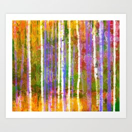 Colorful Forest Abstract | Triptych Part 3 Art Print
