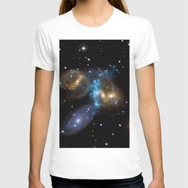 Stephan's Quintet of Five Galaxies in Constellation Pegasus Deep Space Telescopic Photograph T-shirt