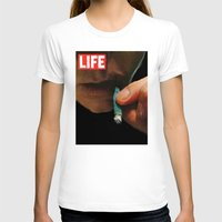 marijuana T-shirts featuring LIFE MAGAZINE: Marijuana by Tia Hank