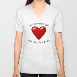 Heart On Unisex V-Neck