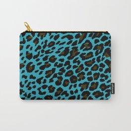 Sapphire Cheetah Print Carry-All Pouch