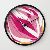 icecream Wall Clocks featuring Icecream by Vítor Galvão