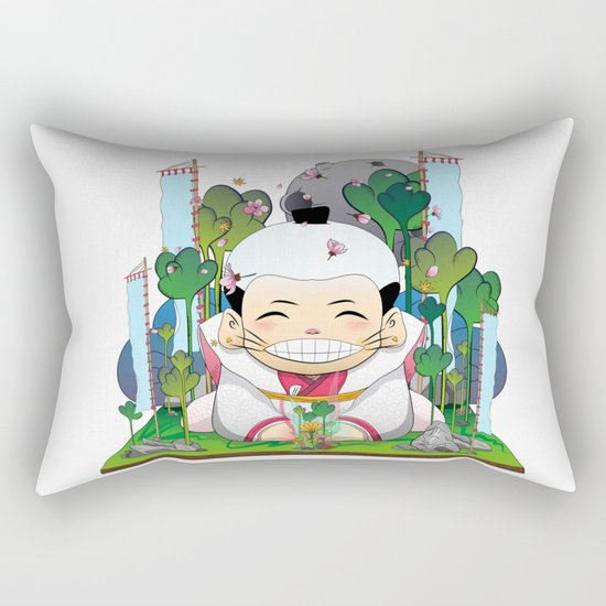 Fukusuke and the magic forest Rectangular Pillow
