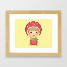The Strawberry Boy Framed Art Print