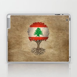 Vintage Tree of Life with Flag of Lebanon Laptop & iPad Skin