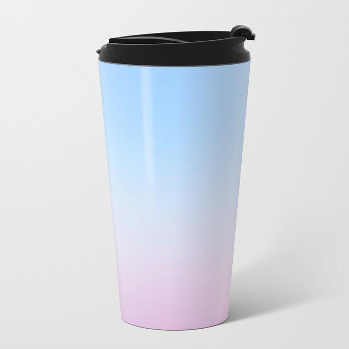 Cotton Blue Gradient Metal Travel Mug