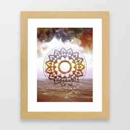 Nature Mandala Atmospheric Framed Art Print