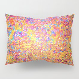 Mosaic-stained glass, abstract, vibrant, colourful Pillow Sham