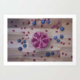 Pomegranate Blueberry explosion Art Print