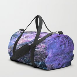 Natural Texture Lavender Teal Duffle Bag