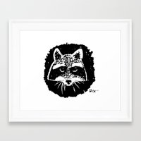 racoon Framed Art Prints featuring Racoon by leart