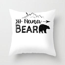 Nana Bear Throw Pillow