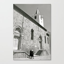 Italy in Black and White Canvas Print