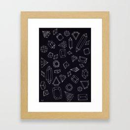 doodle crystals Framed Art Print