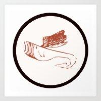 Sky Whale Art Print