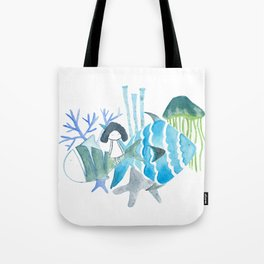 Underwater Girl Tote Bag