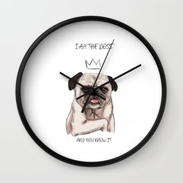 I am the boss, and you know it Wall Clock