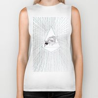 all seeing eye Biker Tanks featuring All Seeing Eye by Rachel Hoffman