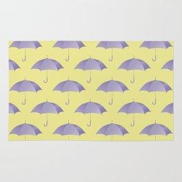 Ultra violet umberlla pattern Rug