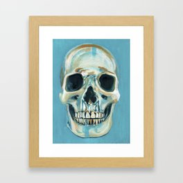 Blue Skull Framed Art Print