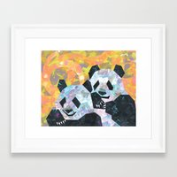pandas Framed Art Prints featuring Pandas by DanielleArt&Design
