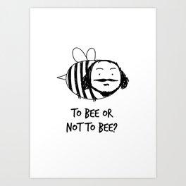 Moustache Bee Art Print