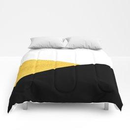 Gold & Black Geometry Comforters