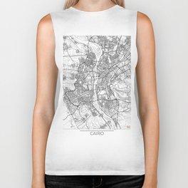 Cairo Map White Biker Tank