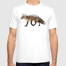 Red Fox MEDIUM White Mens Fitted Tee